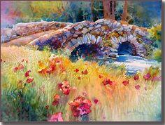 bridges in watercolor artwork - Google Search