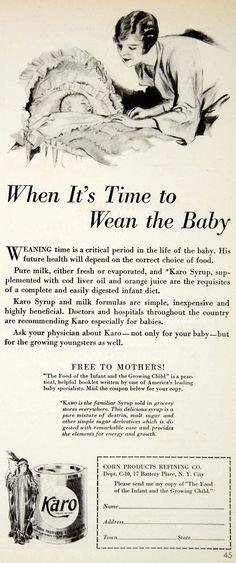1930 Ad Karo Corn Syrup Milk Baby Food Infant Formula Art Deco Children YCT1