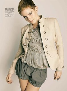 Emma Watson. Love her new style.