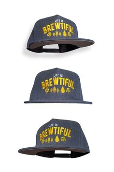 c6a5c163321 10oz Apparel Life is Brewtiful Dark Heather Snapback Beer Snapback Hat at Amazon  Men s Clothing store