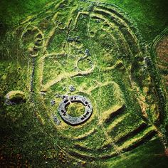 An aerial view of Edin's Hall Broch in the Scottish Borders. It's a bit of a hike to get there, but worth it to see a structure that has been there since the Iron Age! #Scotland #history