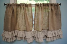 Drop Cloth Curtains, Gold Curtains, Burlap Curtains, Hanging Curtains, Ruffled Curtains, Ikea Curtains, Nursery Curtains, Floral Curtains, Curtains Living