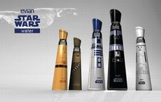Star Wars Themed Evian Bottles make up for great collectibles