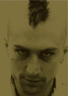 Travis Bickle. Staring. Taxi Driver. '76.