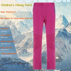 (49.11$)  Know more - http://aixaj.worlditems.win/all/product.php?id=32773982824 - Children's Softshell Hiking Pants Winter Kid's Windproof Anti-static Warm Breathable Ski Pants Boys Girls Hiking Camping Pants