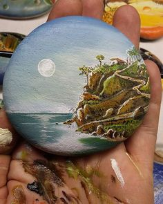 #art #artdaily #canvas #stonecanvas #stone #stoneart #paint #painting…