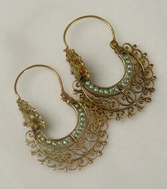 Antique Gold Arracadas | Colonial Arts