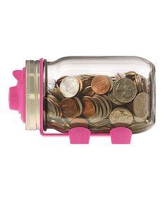 Piggy Bank Mason Jar Topper #zulily #zulilyfinds