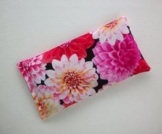 Aromatherapy Eye Pillow lavender / flax seeds Pink by Laa766