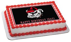 Georgia Bulldogs Edible Birthday Cake Topper