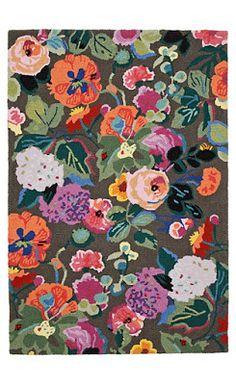 vintage inspired anthropologie floral rug