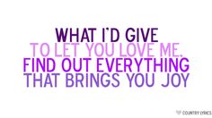 What I'd Give - Sugarland