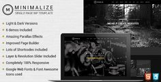 Minimalize  Single Page Theme by designthemes           Minimalize Single Page Multipurpose Theme:Minimalize is a fully responsive, flexible and minimal one-page portf