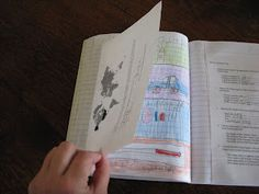Science Notebooks with diagrams, vocabulary, scientific process, etc.