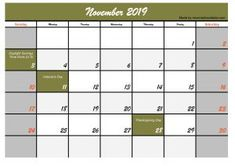Five November 2019 Calendar Printable, Explore all the calendar templates that we made for you, a simple calendar model that is clear and easy to understand Jewish Calendar, Make A Calendar, November Calendar, Today Calendar, 2019 Calendar, November Holidays, November 2019, Monthly Calendar Template, Calendar Printable