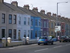 Portrush, N. Ireland - Love the cool colors of the houses that line the main road into Portrush.