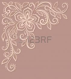 beau motif floral, un élément de design dans le style ancien. De nombreuses similitudes avec le profil de l'auteur