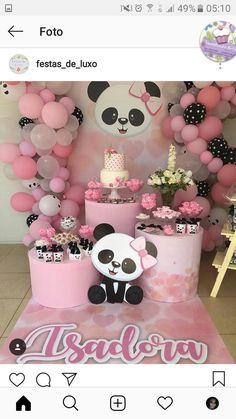 New baby shower ides decoracion panda Ideas Panda Themed Party, Panda Birthday Party, Panda Party, Bear Party, Bear Birthday, Girl Birthday, Baby Shower Parties, Baby Shower Themes, Shower Ideas