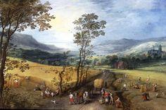 ヨース・デ・モンペル (Joos de Momper)「Summer landscape with harvesters」