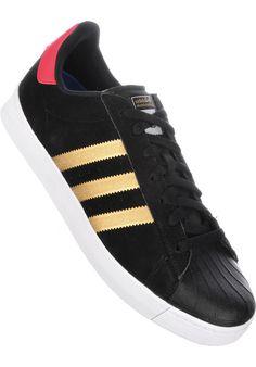 adidas-skateboarding Superstar-Vulc-ADV, black-gold-red #ShoeMen #MenClothing #titus #titusskateshop