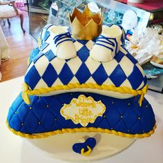 Prince themed pillow baby shower cake#carinaedolce www.carinaedolce www.facebook.com/carinaedolce Baby Shower Cakes, Prince, Pillows, Facebook, Bags, Fashion, Handbags, Moda, La Mode