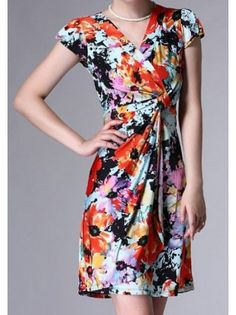 Botanical Synched Waist Dress