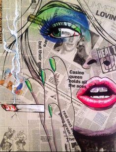 News paper art