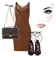 """""""Untitled #34"""" by laurenmq ❤ liked on Polyvore featuring Halston Heritage, Steve Madden, Valentino, Heels, dress and bag"""