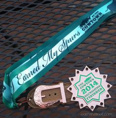 The coolest racing medal ever! The spur even spins! if you're looking for a half marathon in Texas, this is your race! #TheCowtown #FortWorth #running