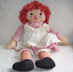 2nd Version of Georgene Raggedy Ann and Andy Dolls