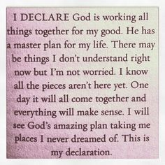 Declare this within your heart!