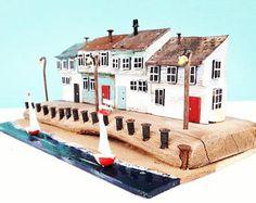 casa sulla spiaggia, casa in legno, piccola casa, casa in miniatura, driftwood, legno recuperato, spiaggia arredamento costiera, richidriftwoodart, arredamento spiaggia, Porto