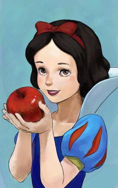 Snow White and her red apple Disney Princess Snow White, Snow White Disney, Disney Princess Art, Disney Princesses, Disney Fan Art, Snow White Wallpaper, Snow White Pictures, Pinturas Disney, Princess Drawings