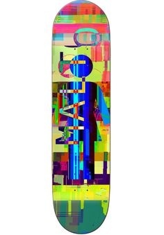 Girl Malto-Glitch-Mode-Mini, Deck, multicolored Titus Titus Skateshop #Deck #Skateboard #titus #titusskateshop