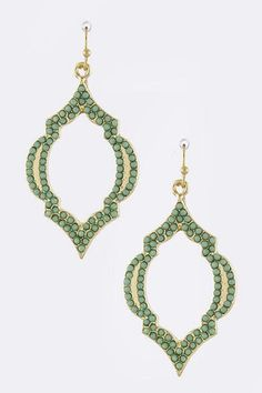 Pointy Edge Quatrefoil Earrings * More Color Options – House of Taylor