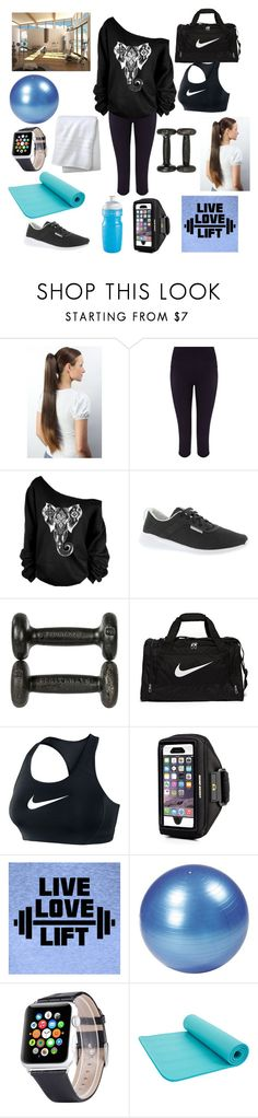 """""""working out"""" by beautyispower7 ❤ liked on Polyvore featuring Sweaty Betty, Reebok, NIKE and Fieldcrest"""