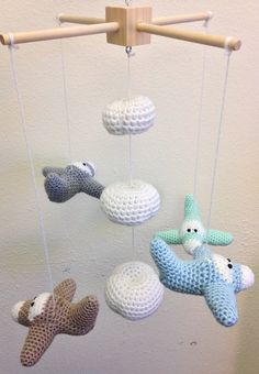Airplane Baby Mobile Hanging Baby Mobile Baby by TheSimplyHooked