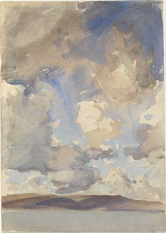John Singer Sargent,Clouds, 1897 (via: the metropolitan museum of art)