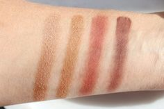 Tom Ford Private Shadows or DIOR BEIGE MASSAI?  Body Double (Vinyl) – a very pretty champagne Warm Leatherette (Vinyl) – a stunning warm bronze gold Agenda Rouge (Suede) – a burnt red Videotape (Suede) a deep aubergine