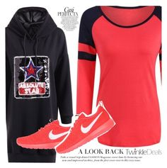 Peach by vanjazivadinovic on Polyvore featuring moda, NIKE, Whiteley, polyvoreeditorial and twinkledeals
