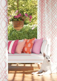 Bring the outdoors in with Portico coordinated Sunbrella indoor/outdoor woven fabrics. Outdoor Fabric, Outdoor Sofa, Outdoor Living, Outdoor Decor, Indoor Outdoor, Pillow Inspiration, Made To Measure Curtains, Interior Design Inspiration, Sweet Home