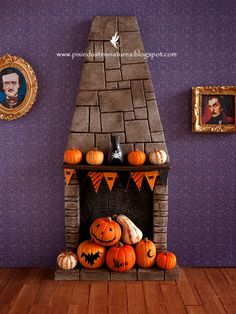 Pixie Dust Miniatures: New TUTORIAL available! Spooky Fireplace...