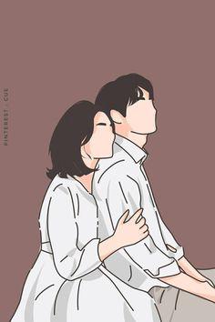 Cartoon Couple Photos, Cute Couple Drawings, Cute Couple Art, Cute Drawings, Couple Illustration, Illustration Art, Book Cover Background, Cover Wattpad, Pop Art Drawing
