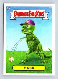 Garbage Pail Kids #30a T. REX 2014 Series 1 Topps Trading Card Sticker