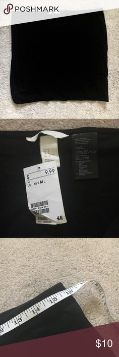 H&M black basic pencil skirt Size medium. NWT never worn! No trades! 16 inch bust and 15.5 inch length. H&M Skirts Pencil