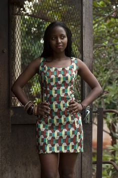 Kitenge Shift Dress. Fair Trade, ethically made in Uganda, Africa.     Love the print, the the fit. I want it now!