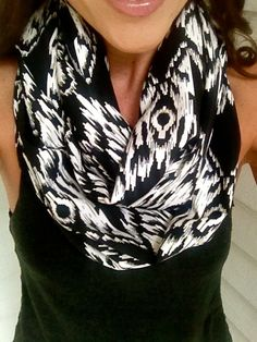 Black+and+White+Aztec+Infinity+Scarf+Fall+Infinity+by+dAnnonEtsy,+$28.00