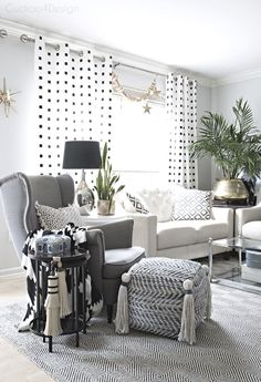 lots of layers and textures in this neutral eclectic boho living room