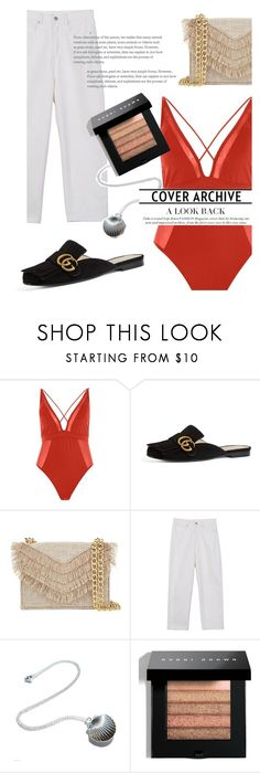 """""""Beach Day"""" by frontrowshop ❤ liked on Polyvore featuring River Island, Gucci, Cynthia Rowley, Front Row Shop and Bobbi Brown Cosmetics"""