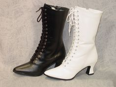Victorian Old West Granny Grannie Boots 6 12 Colors to Choose White or Black | eBay